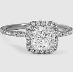 A stunning cushion cut halo ring.