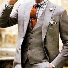 60c779d049fac チェックシャツとオレンジネクタイ 結婚式スーツ
