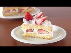 Shortcake (shotokeki) is a layered sponge cake with strawberries and whipped cream.  4/4 was my darlings birthday, so I made this shortcake for him :)  I received many requests for shortcake, so Im finally making this tutorial!!!  --------------------------------- Strawberry Shortcake (Birthday Cake Recipe)  Difficulty: medium Time: 2 hours (6...
