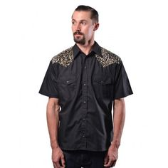 Leopard Yoke Button Up Western Shirt by Steady