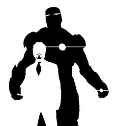 Iron Man Tony Stark stencil template