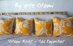 Arte Otomi by ArteOtomi Pillow Shams, Bed Pillows, Pillow Cases, Cushions, Yellow Pillows, Bird Theme, Bed Covers, Decorative Pillows, Birds