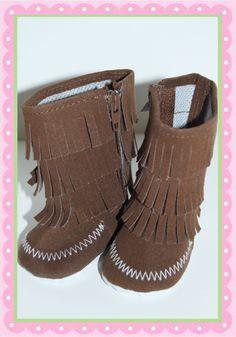 AG Doll Sized Fringe Boots