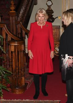 """Camilla Parker Bowles Photos - Camilla, Duchess of Cornwall hosts her annual children's christmas party at Clarence House on December 12, 2019 in London, England. The Duchess who is a Patron of """"Helen & Douglas House"""" and """"Roald Dahl's Marvellous Children's Charity"""", invited seriously and terminally ill children to Clarence House for a Christmas lunch and activities that included decorating a christmas tree and meeting reindeer. - Duchess of Cornwall's Annual Childrens Christmas Party"""