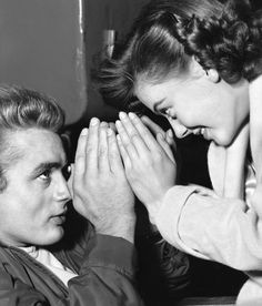 James Dean and Natalie Wood, 1950s (via The Nifty Fifties)