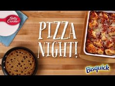 Dinner and Dessert: Impossibly Easy Pizza Bake + Cookie Skillet Pizza - Betty Crocker