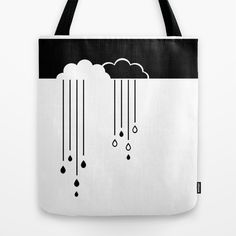 Black and white clouds tote bag on  #society6 by Limitation Free