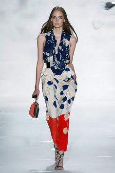 I love the colors and pattern. The shoes are also beautiful! Diane von Furstenberg Spring 2013