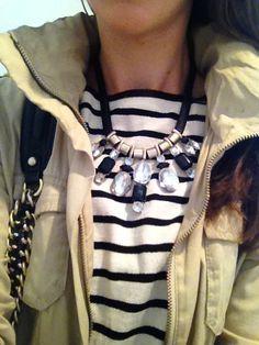 Stripes & statement necklaces <3