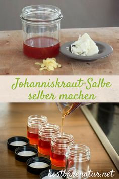 Heilende und aufmunternde Johanniskraut-Salbe lässt sich leicht selbst herstell… Healing and encouraging St. John's wort ointment is easy to make yourself. A basic recipe with only two ingredients and expandable at will. Natural Medicine, Herbal Medicine, Homemade Beauty, Diy Beauty, Luxury Beauty, Natural Cosmetics, Alternative Medicine, Diy Food, Natural Healing