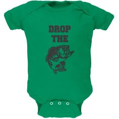 Drop The Bass Kelly Green Soft Baby One Piece