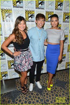 Jenna Ushkowitz, Kevin McHale & Naya Rivera at Comic-Con 2012!