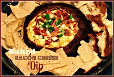 Sweet Tea and Cornbread: Baked Bacon Cheese Dip in a Bread Bowl!