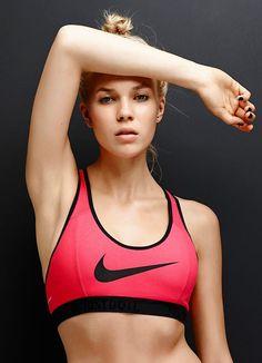 Nike Swoosh Bra. Nike Sport Bra | Workout Clothes for women #nike #sport @ http://www.FitnessGirlApparel.com