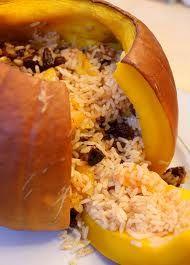 Ghapama - Stuffed, Baked Pumpkin -- TheArmenianKitchen.com -- Everything about Armenian food