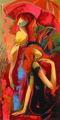 """🎨 Irene Sheri (Ukrainia Trained at Saint Petersburg Institute of Art. Abstract Portrait, Portrait Art, Abstract Art, Figure Painting, Painting & Drawing, Modern Art, Contemporary Art, Art And Illustration, Figurative Art"