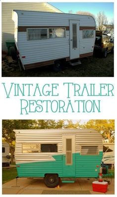 How To Paint A Vintage Trailer. A travel camper has always been a dream of mine! SO darling :)