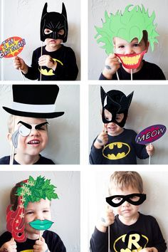 Batman Party with FREE Photobooth Mask | This is gonna be a fun moment on parties! Your kids will love this Batman costumes. #DIYready