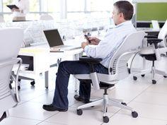 Sillón de oficina / moderno / de tela / de cuero LEAP Steelcase