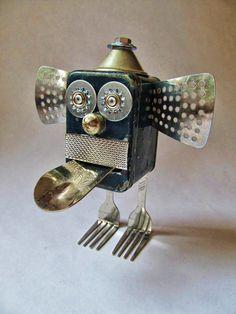 Monkey Man -  found object sculpture