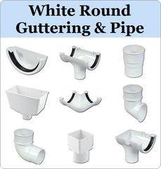 Virtual Plastics Ltd. White Round Gutter and Downpipe Range from £3.49