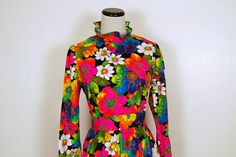 Groovy Maxi Dress by CheekyVintageCloset on Etsy, $38.00