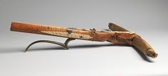 Dated 1460 in the carved ivory decoration, this is the earliest known dated crossbow in existence. The ivory is inscribed with the coats of arms of Württemberg and Savoy, referring to the owner, Count Ulrich V of Württemberg (1413–1480), and his third wife, Princess Marguerite of Savoy (1420–1479)