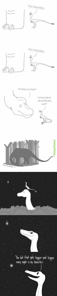 That's kind of sad...seeing that that's the cause of their extinction yet he looks at it in wonder...