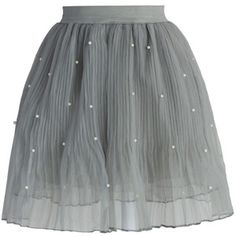 Chicwish Pearly Stars Tulle Skirt in Smoke