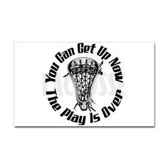 Lacrosse Plays Over bkg Sticker (Rectangle) Do you need that one last gift for the stocking? How about some lacrosse stickers? Spread the YouGotThat.com word and like us http://www.facebook.com/YouGotThat #Lacrosse #Lax #Laxgifts #LacrosseGifts #stockingstuffers