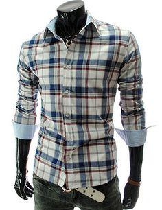 Slim Fit Casual Checker Shirt