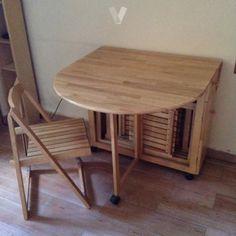Mesas plegables o abatibles para la cocina mesas - Sillas plegables ikea ...