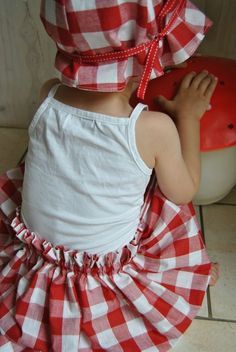 Matching Gingham Outfit for Girls Red Gingham, Gingham Check, Little Miss, Little Red, People With Red Hair, Red Cottage, Creation Couture, Little Doll, Have A Great Day