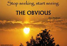 Stop seeking, start seeing the obvious. ~Shri Prashant #ShriPrashant #Advait #seeing #obvious Read at:- prashantadvait.com Watch at:- www.youtube.com/c/ShriPrashant Website:- www.advait.org.in Facebook:- www.facebook.com/prashant.advait LinkedIn:- www.linkedin.com/in/prashantadvait Twitter:- https://twitter.com/Prashant_Advait