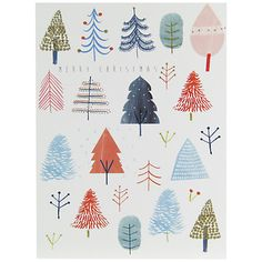 Buy John Lewis Merry Christmas Trees Charity Christmas Cards, Pack of 6 Online at johnlewis.com