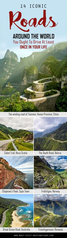 14 Iconic Roads Around The World You Ought To Drive At Least Once In Your Life #travel