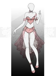 [Closed] Auction Outfit by on DeviantArt Clothing Sketches, Dress Sketches, Fashion Design Drawings, Fashion Sketches, Anime Outfits, Cosplay Outfits, Royal Clothing, Female Clothing, Drawing Anime Clothes