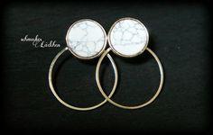 Geometrische Ohrringe rund vergoldet mit von byschmuckesLaedchen