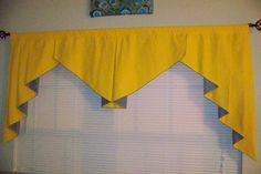 Yellow and Grey Valance, Curtain, window Treatment, Home Decor. by ShabbyNchicHomeCandy on Etsy Window Pelmets, Small Window Curtains, Decorative Curtains, Boys Curtains, Valance Curtains, Valance Ideas, Curtains Living, Drapery, Layette