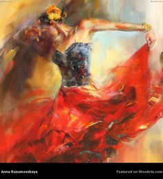 Cheap paintings on canvas, Buy Quality wall painting directly from China flamenco dancer Suppliers: Pure Handmade Flamenco Dancers Modern Sexy Boo Nude Back Character Wall Painting On Canvas Home Decor Impression Oil Painting Romantic Paintings, Beautiful Paintings, Romantic Artwork, Anna Razumovskaya, Dance Paintings, Watercolor Paintings, Portrait Paintings, Painting Canvas, Canvas Art