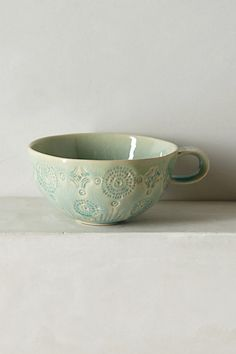 Old Havana Mug #anthropologie --- I own this one, it was a Christmas gift from my sister. It's even prettier in person. :)