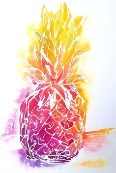 'PINEAPPLE' by Missy M Art for Sale - ART101 Art Gallery & Framing