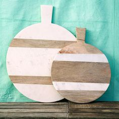 These Marble and Wood Serving Boards ($48-$198) look incredible propped on a countertop when they aren't being used.