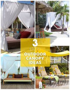 Follow these simple step-by-step guides to building your own backyard, budget friendly canopy - which will keep you sheltered from the hot sun all summer long.