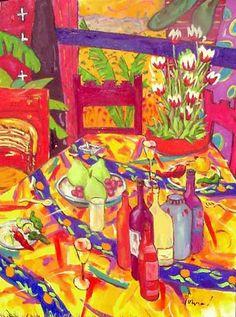 Tulips and Talavera Color - Michael Norviel