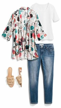 a0328b27e06 Love this kimono and the shoes Stitch Fix Stylist