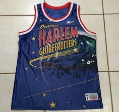 Rare  Vintage REEBOK Harlem Globetrotters Authentic Collection Jersey Men's XL