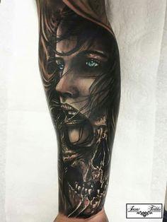 Forarm Tattoos, Girl Arm Tattoos, Arm Tattoos For Guys, Skull Tattoos, Future Tattoos, Leg Tattoos, Body Art Tattoos, Scary Tattoos, Badass Tattoos