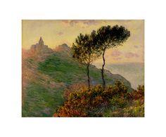 Репродукция картины Клода Моне «Церковь в Варанжевиле»