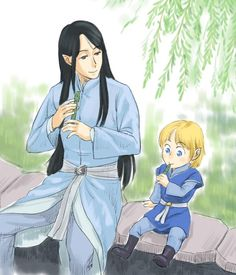 Ecthelion and little Eärendil<<<the willow whistles!!!